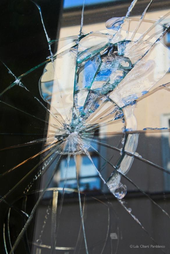 Broken window, Bratislava