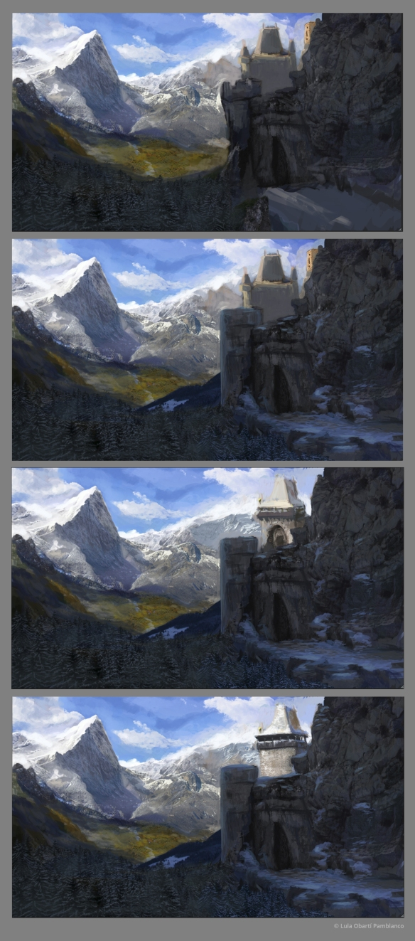 Learning matte painting II